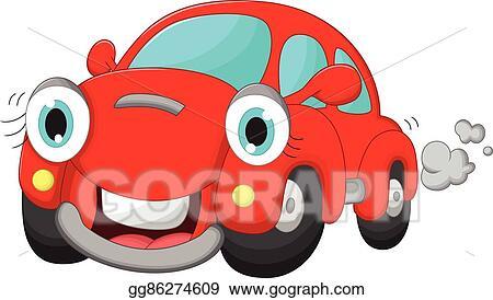 Vector Clipart Cute Car Cartoon Vector Illustration Gg86274609 Gograph