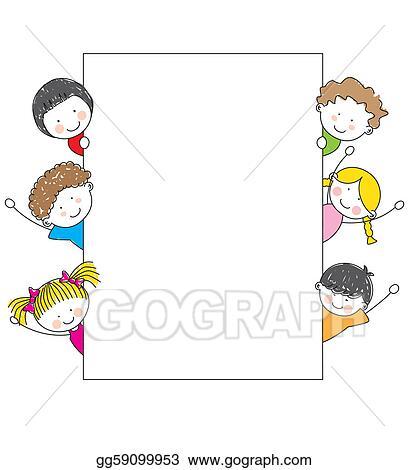 Vector Stock - Cute cartoon kids frame . Stock Clip Art gg59099953 ...