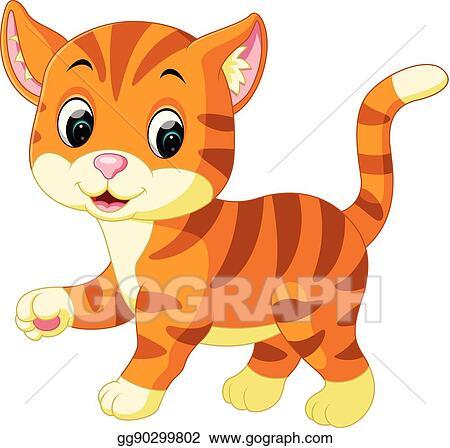 Vector Stock Cute Cat Cartoon Stock Clip Art Gg90299802 Gograph