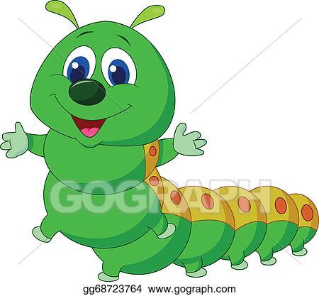 Vector Clipart Cute Caterpillar Cartoon Vector Illustration