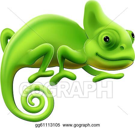 vector art cute chameleon illustration clipart drawing gg61113105 rh gograph com chameleon clipart free chameleon clipart black and white