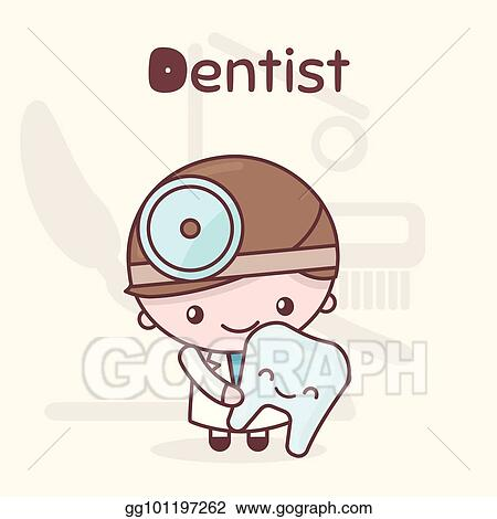 Vector Art Cute Chibi Kawaii Characters Alphabet Professions The