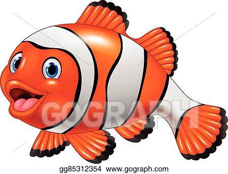 vector clipart cute clown fish cartoon vector illustration rh gograph com