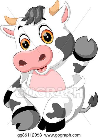 vector art cute cow clipart drawing gg85112953 gograph rh gograph com cute cow face clipart cute cow clipart black and white