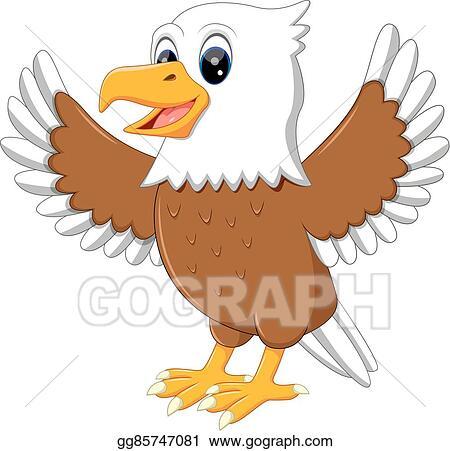 Eagle cute. Vector clipart illustration gg