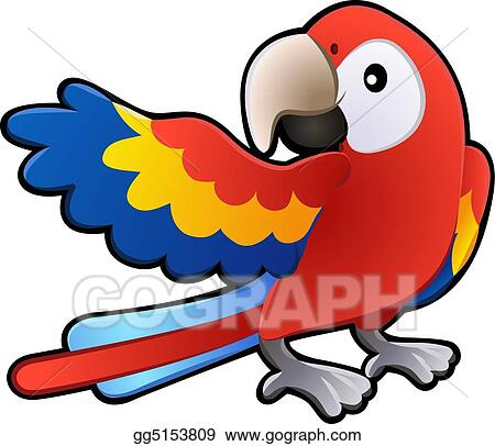 vector art cute friendly macaw parrot illustration eps clipart rh gograph com Toucan Clip Art Elephant Clip Art