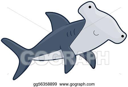 stock illustration cute hammerhead shark clipart illustrations rh gograph com hammerhead shark clipart free Hammerhead Shark Outline Clip Art