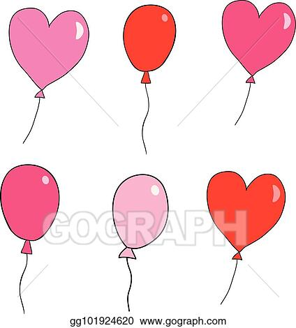 Vector Stock Cute Hand Drawn Vector Balloons For Greeting Cards