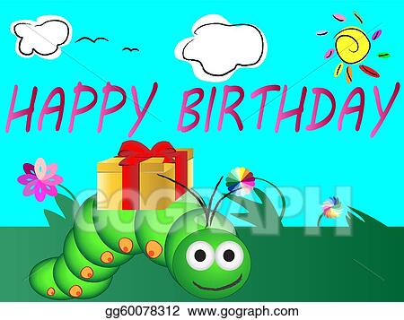Vector art cute happy birthday card clipart drawing gg60078312 cute happy birthday card bookmarktalkfo Choice Image