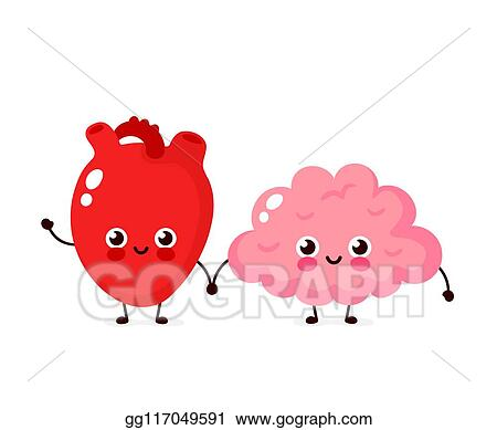 vector illustration cute healthy happy human brain eps clipart gg117049591 gograph https www gograph com clipart license summary gg117049591