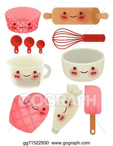 Eps Illustration Cute Kitchen Utensil Vector Clipart