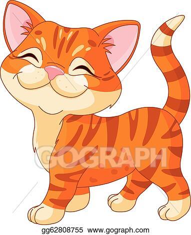 vector stock cute kitten clipart illustration gg62808755 gograph rh gograph com cute puppy and kitten clipart free cute kitten clipart
