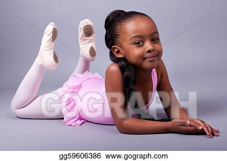 86d5f1ff3d4b Pictures - Cute little african american girl wearing a ballet ...