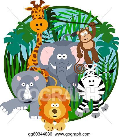 Safari Animals Clip Art Royalty Free Gograph