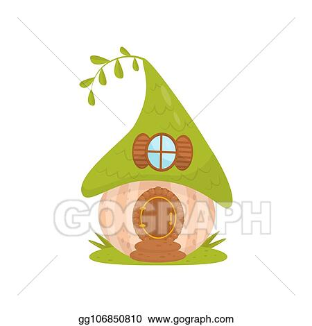 Fantastic Vector Stock Cute Small House With Green Roof Fairytale Caraccident5 Cool Chair Designs And Ideas Caraccident5Info