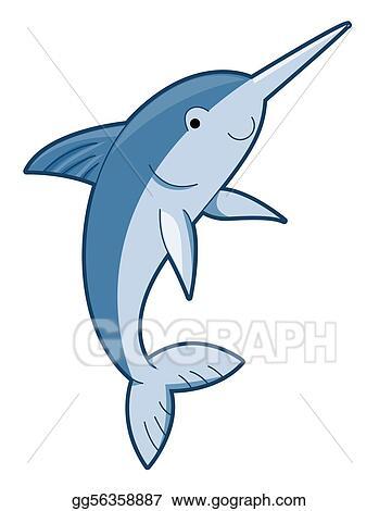 drawing cute swordfish clipart drawing gg56358887 gograph rh gograph com Swordfish Outline swordfish clipart free