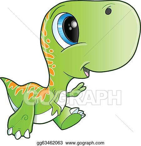 Eps Vector Cute Tyrannosaurus Rex Dinosaur Stock Clipart Rh Gograph Com Girl Clip Art Brachiosaurus