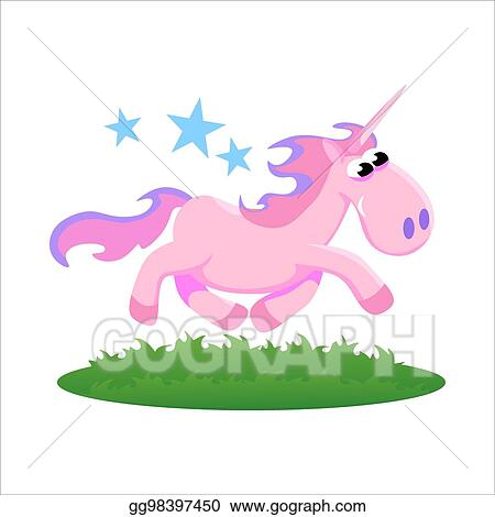 Vector Clipart Cute Unicorn Isolated Set Magic Pegasus