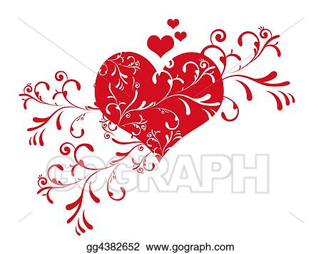 Drawings Cute Valentine S Day Hea Stock Illustration Gg4382652