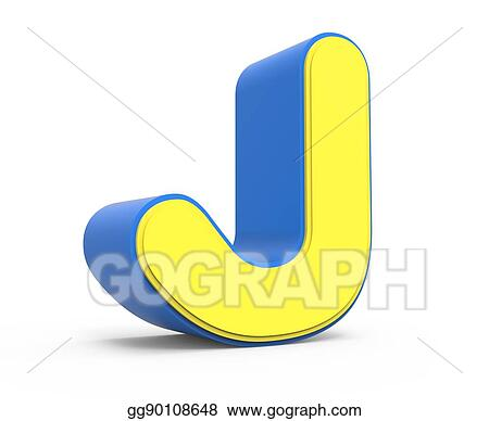Drawing Cute Yellow Letter J Clipart Drawing Gg90108648 Gograph