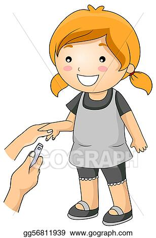 Clipart Cutting Nails Stock Illustration Gg56811939 Gograph