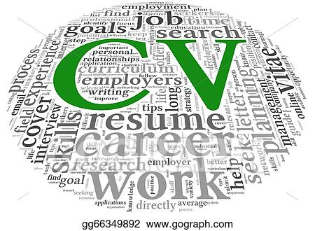 Stock Illustrations Cv Curriculum Vitae Concept In Word Tag Cloud