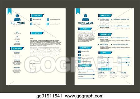 Vector Stock Cv Resume Curriculum Vitae Badge Design Clipart