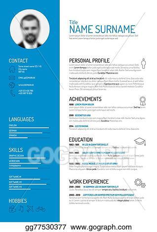 EPS Vector - Cv / resume template. Stock Clipart Illustration ...