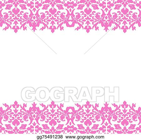 drawing damask border pink clipart drawing gg75491238 gograph rh gograph com Elegant Border Clip Art black and white damask border clip art