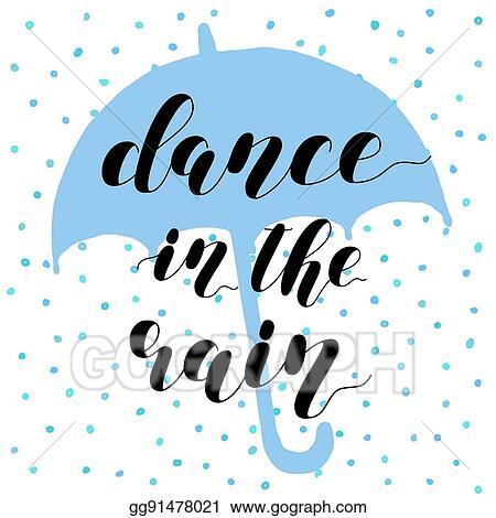 vector art dance in the rain brush lettering illustration eps rh gograph com Couple Dancing Clip Art Line Dancing Clip Art