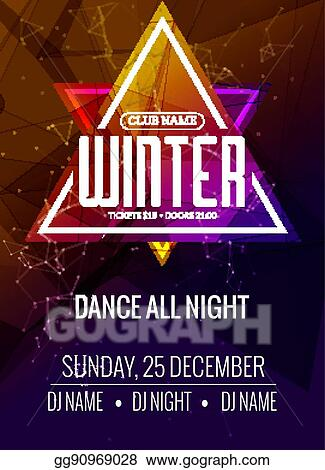 Vector Clipart Dance Party Dj Battle Poster Design Winter Disco Party Music Event Flyer Or Banner Illustration Template Vector Illustration Gg90969028 Gograph