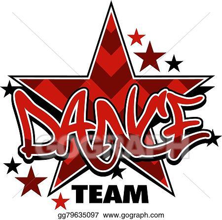 clip art vector dance team stock eps gg79635097 gograph rh gograph com dance team logo ideas dance team logo maker