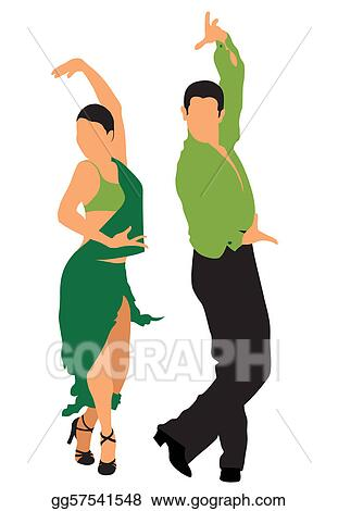 vector clipart dancers vector illustration gg57541548 gograph rh gograph com free clipart of dancers clipart images of dancers