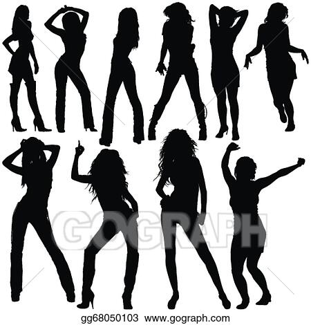 Vector clipart dancing girls silhouettes vector illustration vector clipart dancing girls black silhouettes and dance poses vector vector illustration gg68050103 sciox Choice Image