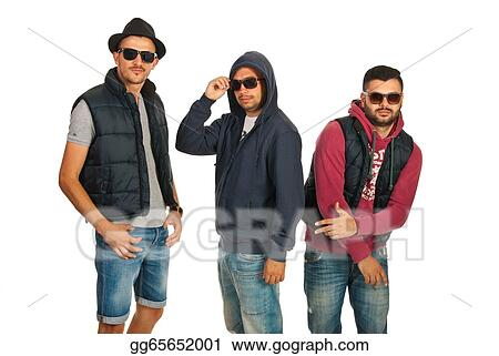 2a12e1457463 Stock Photograph - Dancing group of men with sunglasses. Stock Image ...