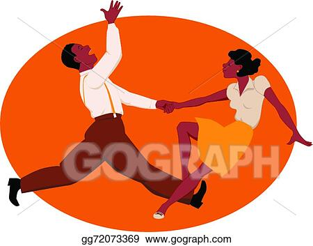 clip art vector dancing jitterbug stock eps gg72073369 gograph rh gograph com Dance Jitterbug jitterbug flip at rite aid
