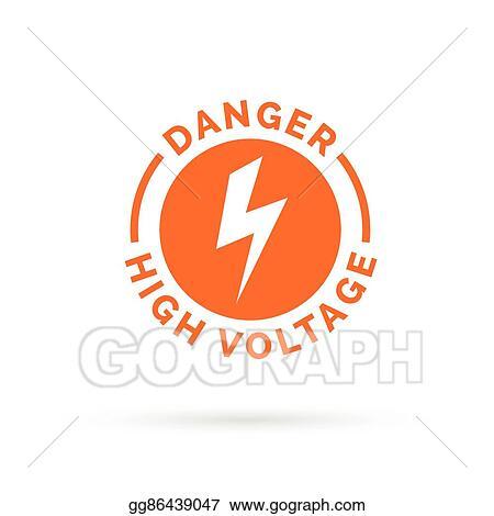 Electrical Hazard Icon Electric Shock Symbol