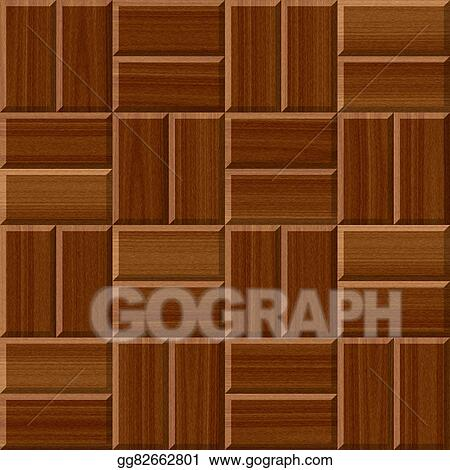 Drawing Dark Brown Wood Floor Tiles Seamless Pattern Texture