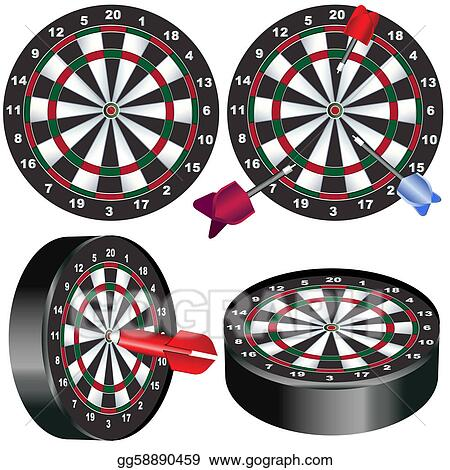 Eps Vector Dart Board Stock Clipart Illustration Gg58890459 Gograph
