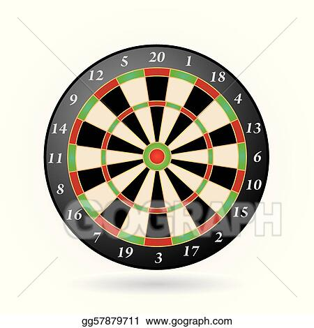Vector Clipart Darts Game Vector Illustration Gg57879711 Gograph