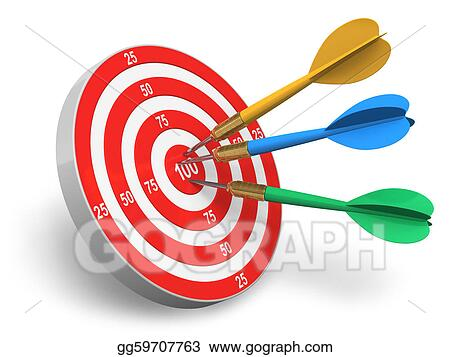 Stock Illustration Darts Game Clipart Drawing Gg59707763 Gograph