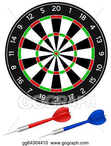 Vector Clipart Darts Game Vector Illustration Gg64304410 Gograph
