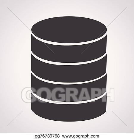 EPS Vector - Database icon  Stock Clipart Illustration