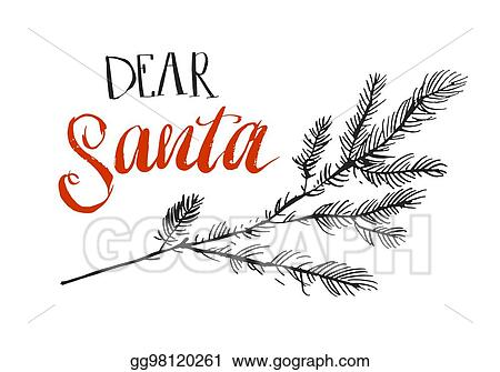 Eps vector dear santa i can explain funny saying for christmas t funny saying for christmas t shirt greeting card and wall art brush typography on red santa claus hat shape m4hsunfo