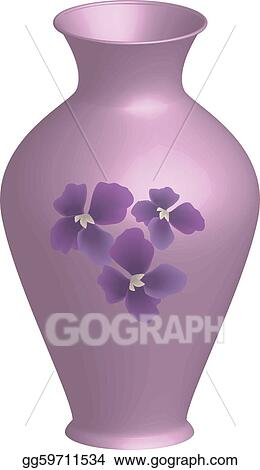 Vector Art Decorated Vase Clipart Drawing Gg59711534 Gograph