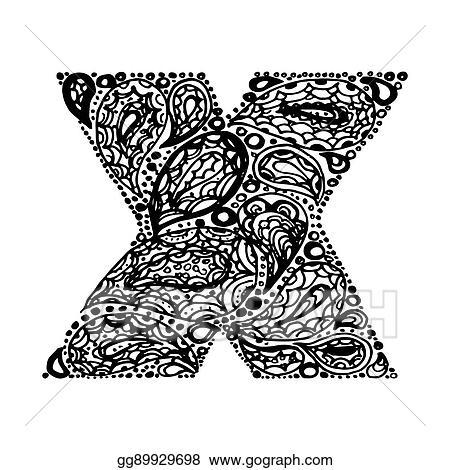 Tattoo Letter X Design