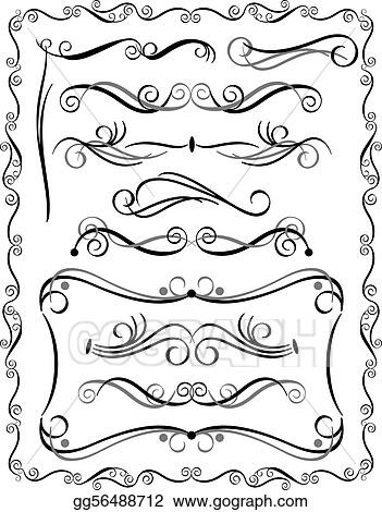 scroll border clip art royalty free gograph