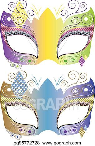 Art Clipart - Vector Mask Drawing Carnival Decorative Gg95772728