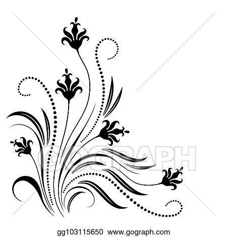 Corner Floral Line Art Free Download Oasis Dl Co