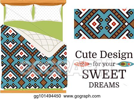 Decorative Ornamental Pattern For Bed Sheets